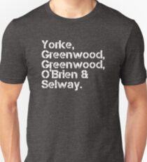 Radiohead [line-up] Unisex T-Shirt