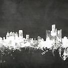 Detroit Michigan Skyline by Michael Tompsett