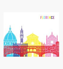 Florence skyline pop Photographic Print