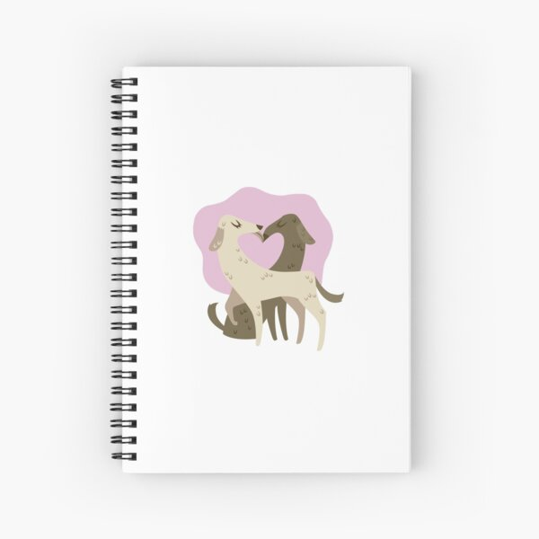 Fuzz and Kisses: Dogs Spiral Notebook