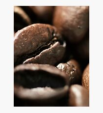Coffee, beans, Macro, pattern, texture, - fine art - still life - interior decoration, for bar & restaurant, n° 1 Photographic Print