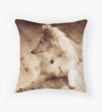 Sheltie Sepia Throw Pillow