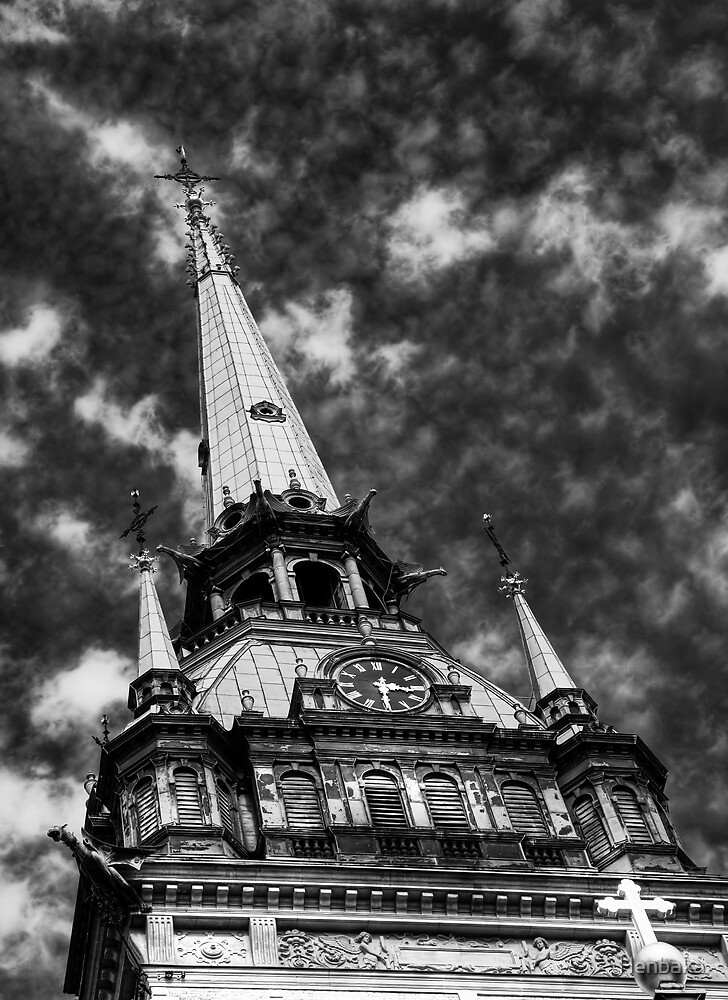 The tower (bw) by Henbaka
