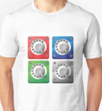 rotary phone dial icons T-Shirt