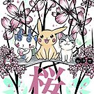 Hanami with friends by Nados