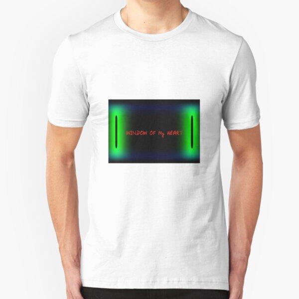 Window of my heart Slim Fit T-Shirt