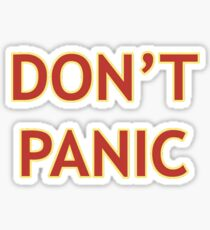 Don't Panic - Hitchhiker's Guide to the Galaxy Sticker