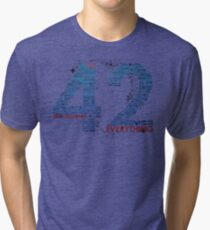Life, The Universe, and Everything- Hitchhiker's Guide to the Galaxy Tri-blend T-Shirt