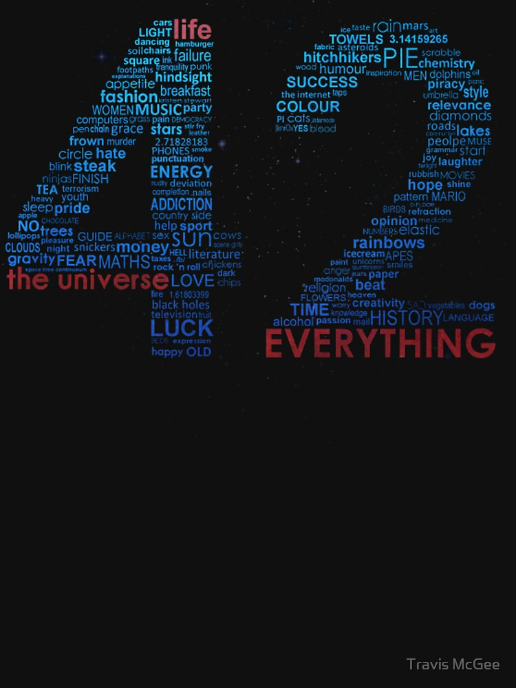 TShirtGifter presents: Life, The Universe, and Everything- Hitchhiker's Guide to the Galaxy | Unisex T-Shirt