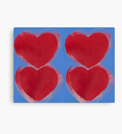 Painted Hearts Canvas Print