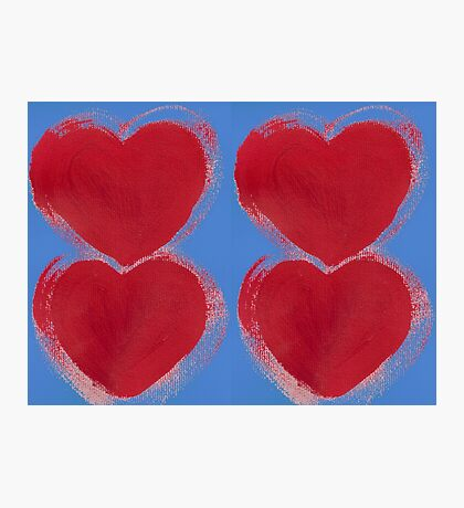 Painted Hearts Photographic Print