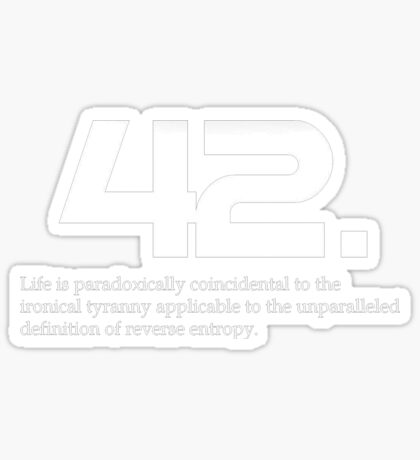 The meaning of life is 42 - Hitchhiker's Guide to the Galaxy Sticker