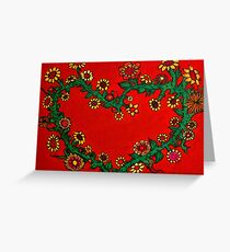 Flowerchild at heart Greeting Card