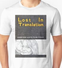 LOST IN TRANSLATION hand drawn movie poster in pencil Unisex T-Shirt