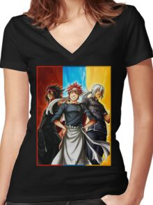 Food Wars - Shokugeki no Soma Women's Fitted V-Neck T-Shirt