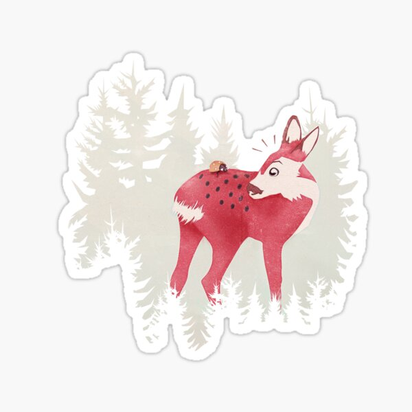 oh deer, what the bug?! Sticker