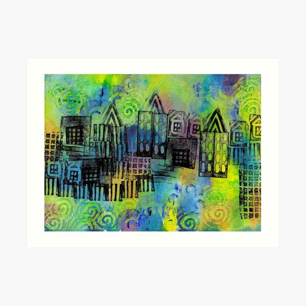 Psychedelic City 1 Art Print