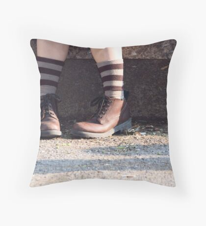 Two Shoes Throw Pillow