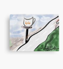 Route 66 Whimsy & Coffee Metal Print