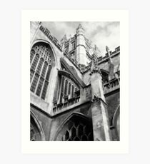 Bath Abbey Art Print