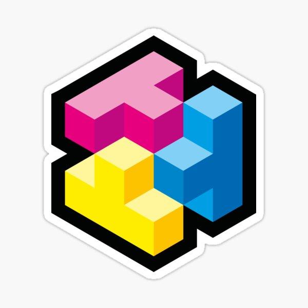 T Three CMYK Sticker