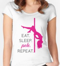Eat. Sleep. POLE. Repeat. Women's Fitted Scoop T-Shirt