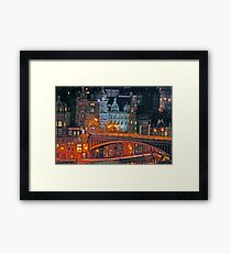 """Olde World Edinburgh City"" Framed Print"