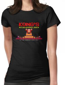 Donkey Kong's Micro Barrel Brew Womens Fitted T-Shirt