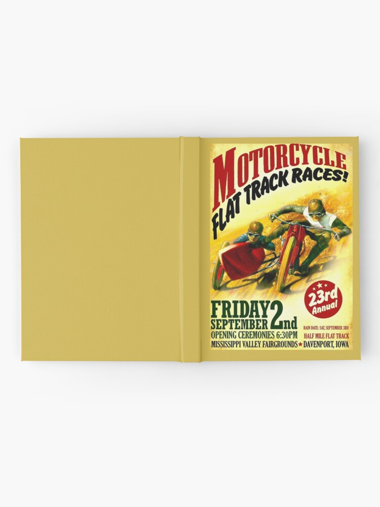 "Alternative Ansicht von ""MOTORCYCLE FLACHSTRECKE"" Vintage Racing Print Notizbuch"