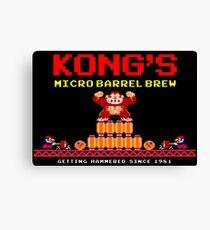 Donkey Kong's Micro Barrel Brew Canvas Print
