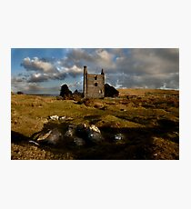 Abandoned Mine Building - Bodmin Moor Photographic Print