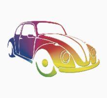 VW Bug hippie tie dye by Tony  Bazidlo