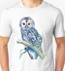 Owl, colourful owl art Unisex T-Shirt