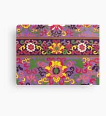 Purple Yellow Pink And White Flowers - Floral Pattern Graphic Print Canvas Print