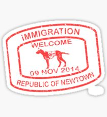Republic of Newtown - 2014: Red Sticker