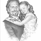 dad & daughter drawing by Mike Theuer