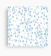 Rainy day. Print with water driops. Canvas Print