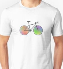 Rainbow Road bike wheels T-Shirt