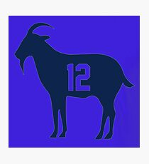 Goat tb12 Tom Brady Exclusive T-shirt Photographic Print