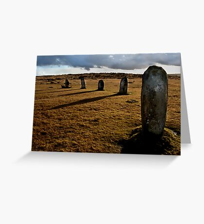 The Hurlers Stone Circle - Cornwall Greeting Card