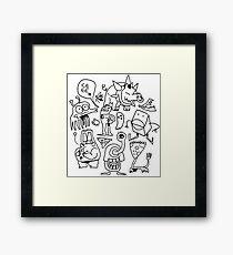 doodle dumb Framed Print