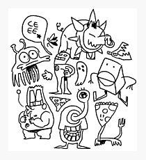 doodle dumb Photographic Print