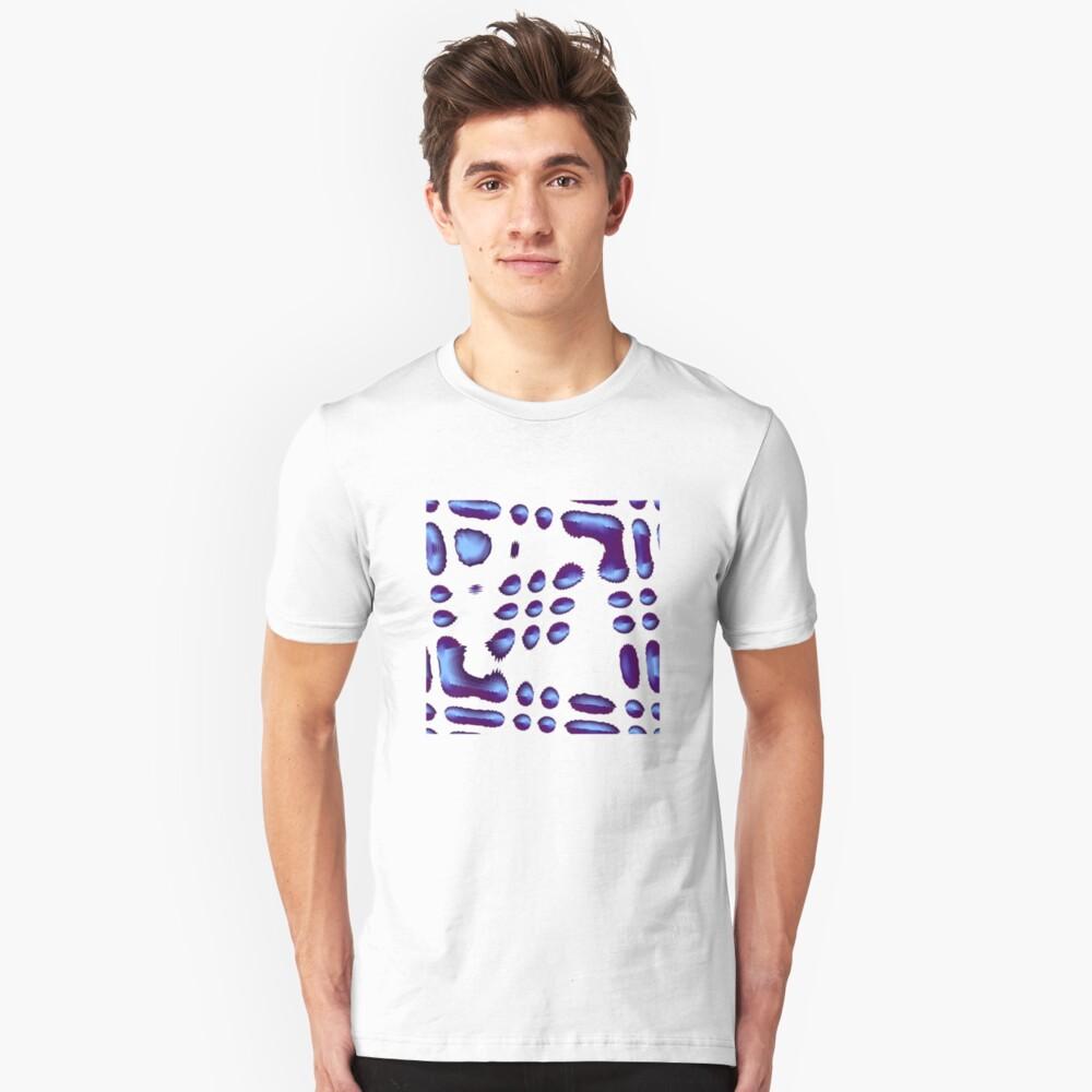 Blue Design 1 Unisex T-Shirt Front