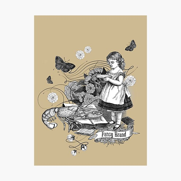 Girl with Lobster 2 by Fancy Brand Photographic Print