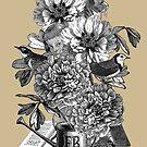 Peony Flowers by Fancy Brand by Denys Golemenkov