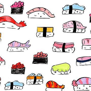 Nigiri Sushi Doodles by taxdollars