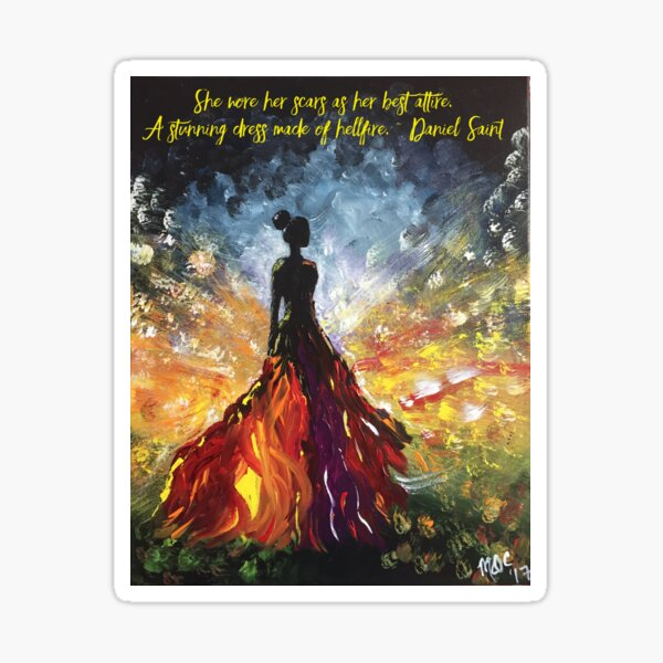 Passion with Hellfire Quote Sticker