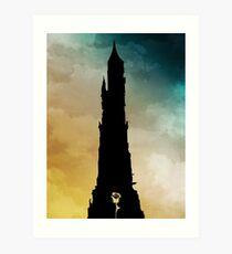 Dark Tower and Rose Art Print