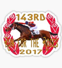 143rd Run for the Roses - Horse Racing Sticker
