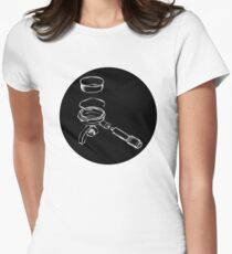 Exploded Portafilter (cercle noir series)  Womens Fitted T-Shirt